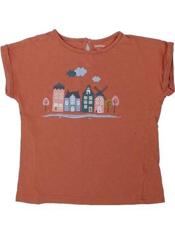 T-shirt manches courtes fille BOUT'CHOU marron 2 ans été #1419521_1