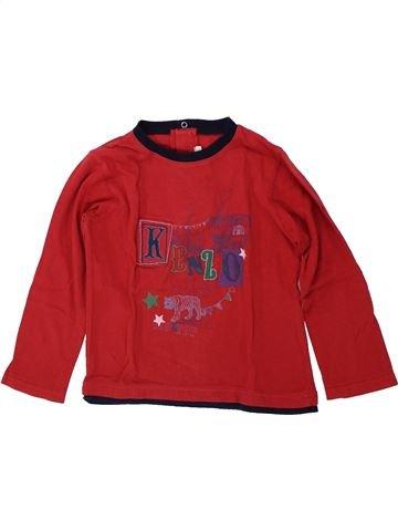 T-shirt manches longues garçon KENZO rouge 4 ans hiver #1419604_1