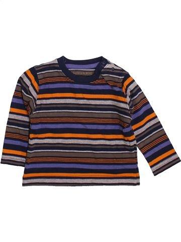 T-shirt manches longues garçon GRAIN DE BLÉ marron 6 mois hiver #1419948_1