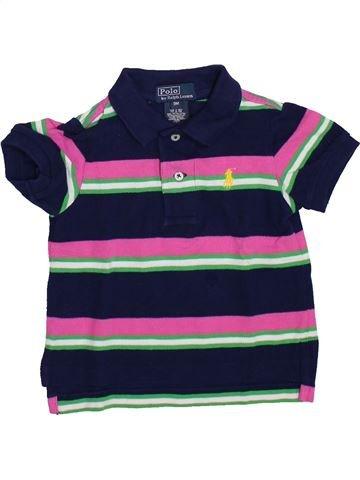 Polo manches courtes garçon RALPH LAUREN bleu 9 mois été #1420127_1