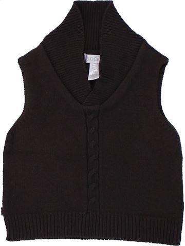 Pull garçon OKAIDI noir 6 mois hiver #1420247_1