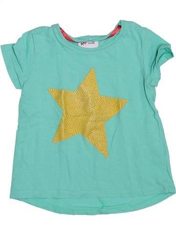T-shirt manches courtes fille LA REDOUTE CRÉATION bleu 3 ans été #1420376_1
