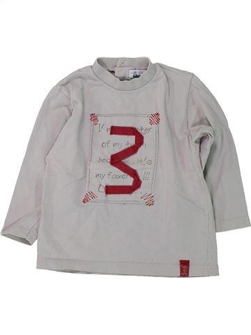 Camiseta de manga larga niña VERTBAUDET gris 2 años invierno #1420734_1