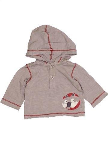 Camiseta de manga larga niño VERTBAUDET beige 3 meses invierno #1421200_1