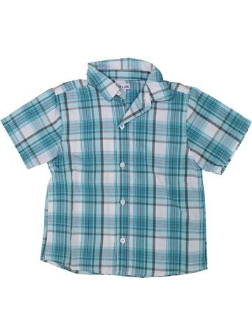 Chemise manches courtes garçon KIM & LOU bleu 5 ans été #1421227_1