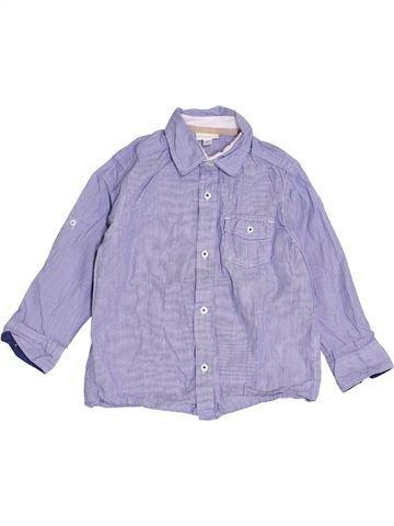 Camisa de manga larga niño VERTBAUDET gris 4 años invierno #1421251_1
