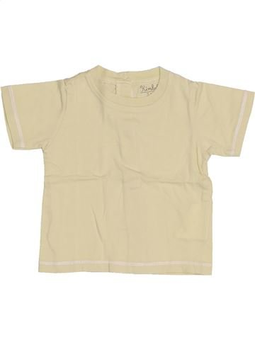 T-shirt manches courtes garçon KIMBALOO beige 3 mois été #1421283_1