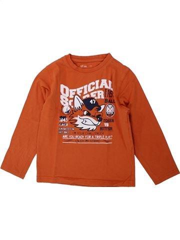 Camiseta de manga larga niño GEMO naranja 5 años invierno #1421645_1