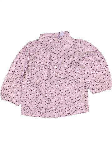 Camiseta de cuello alto niña KIMBALOO rosa 9 meses invierno #1421664_1
