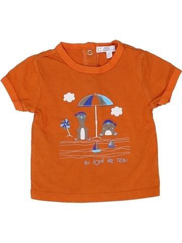 T-shirt manches courtes garçon KIABI orange 3 mois été #1421712_1