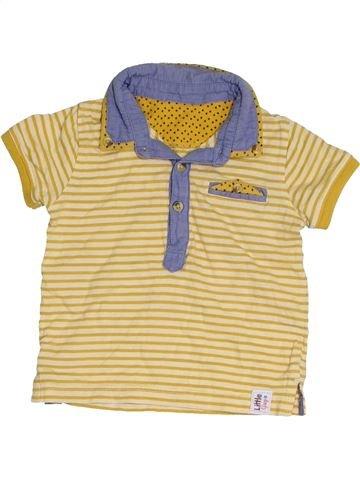 Polo de manga corta niño M&CO beige 12 meses verano #1421773_1