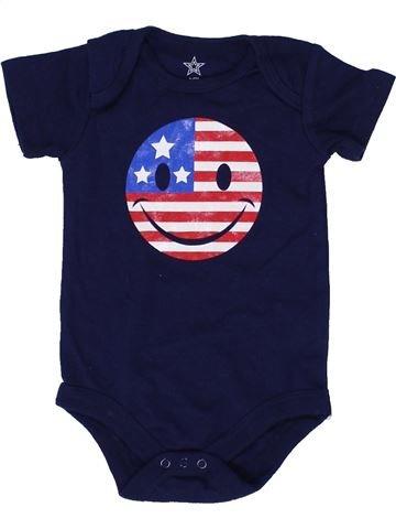 Camiseta de manga corta niño SANS MARQUE violeta 6 meses verano #1422698_1