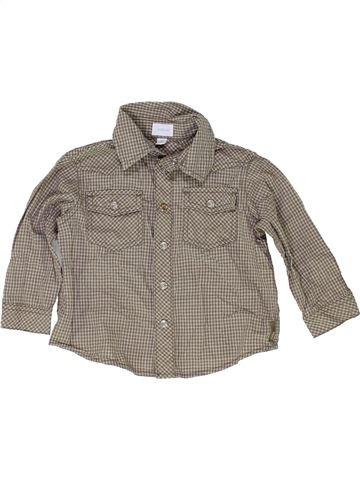 Chemise manches longues garçon MEXX marron 12 mois hiver #1422901_1
