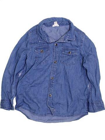 Chemise manches longues garçon RIVER ISLAND bleu 4 ans hiver #1423109_1