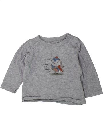 Camiseta de manga larga niño GAP gris 12 meses invierno #1423188_1