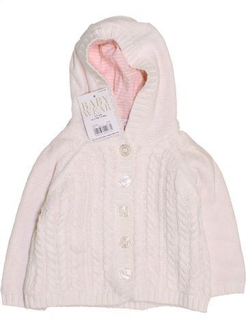 Gilet fille MINICLUB blanc 9 mois hiver #1423192_1