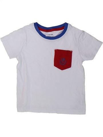 T-shirt manches courtes garçon LADYBIRD blanc 18 mois été #1423522_1