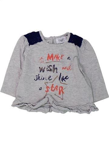 Camiseta de manga larga niña F&F gris 3 meses invierno #1423711_1