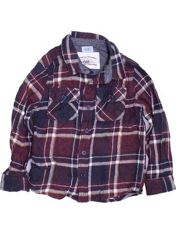 Camisa de manga larga niño F&F gris 4 años invierno #1424237_1