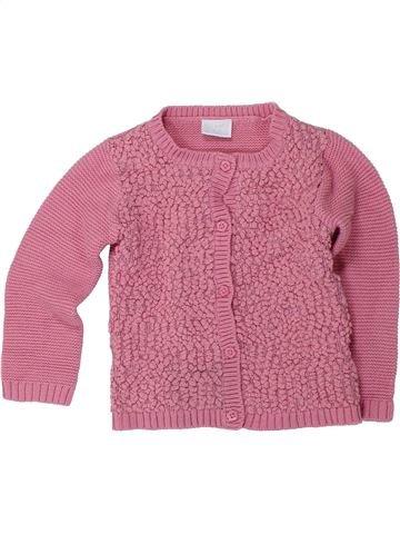 Chaleco niña F&F rosa 12 meses invierno #1424426_1