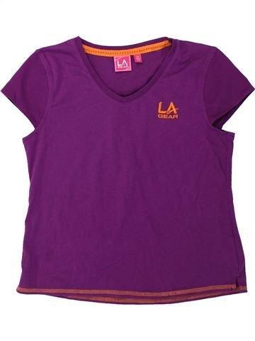 T-shirt manches courtes fille LA GEAR violet 13 ans été #1424668_1