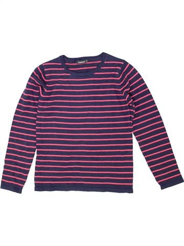 Pull fille IN EXTENSO violet 10 ans hiver #1424725_1