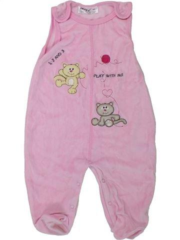 Pyjama 1 pièce fille OKAY rose 3 mois hiver #1424916_1