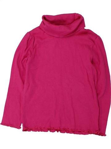 Camiseta de cuello alto niña LUPILU rosa 4 años invierno #1425189_1