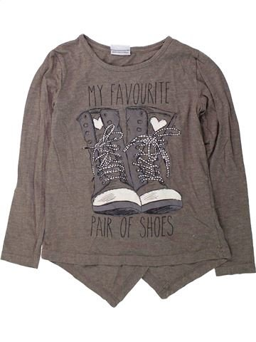 T-shirt manches longues fille YIGGA gris 10 ans hiver #1425544_1