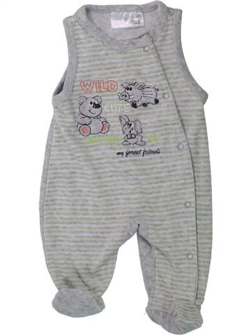 Pyjama 1 pièce garçon ERGEE gris naissance hiver #1425788_1