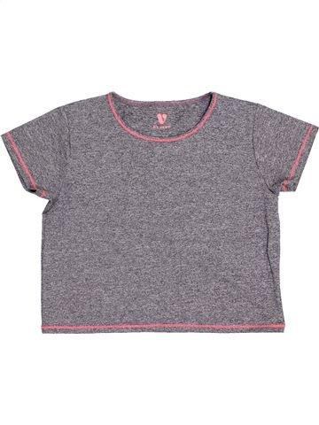 T-shirt manches courtes fille V BY VERY gris 14 ans été #1426388_1