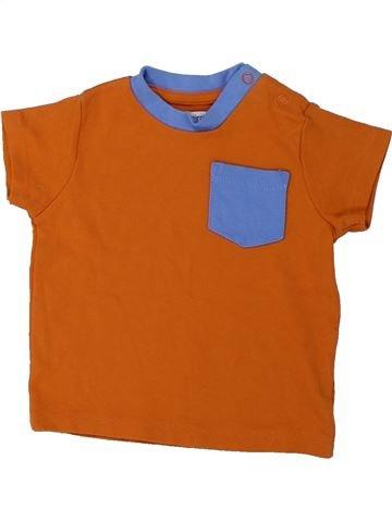 T-shirt manches courtes garçon LADYBIRD marron 12 mois été #1426444_1