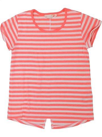 T-shirt manches courtes fille TAMMY rose 11 ans été #1426606_1