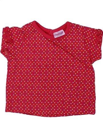 T-shirt manches courtes fille CHEROKEE rouge naissance été #1426723_1