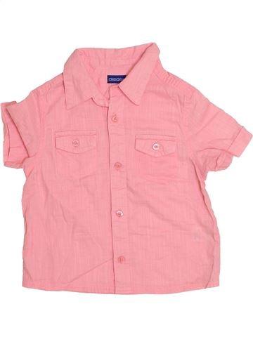 Chemise manches courtes garçon CHEROKEE rose 4 ans été #1427039_1