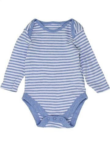 T-shirt manches longues garçon GEORGE bleu 6 mois hiver #1427075_1