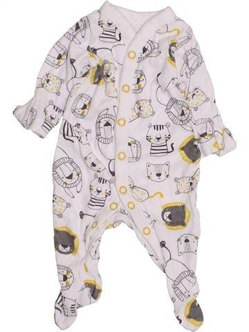 Pyjama 1 pièce garçon MOTHERCARE blanc prématuré été #1427424_1