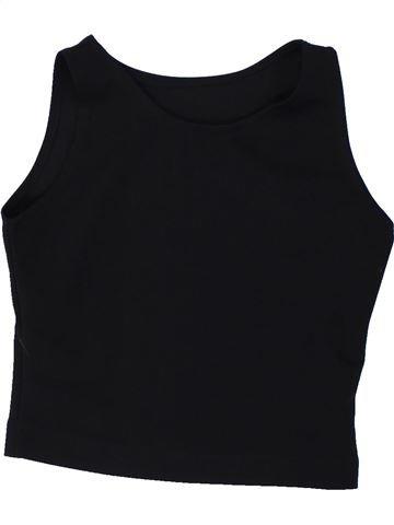 T-shirt sans manches fille SANS MARQUE noir 8 ans été #1427490_1