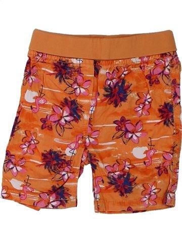 Short - Bermuda fille TOPOMINI orange 6 mois été #1427494_1
