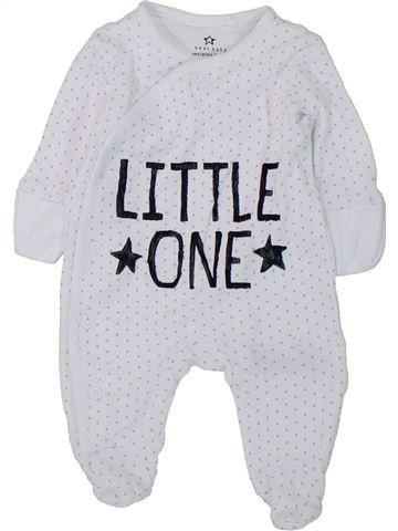 Pyjama 1 pièce garçon NEXT blanc prématuré été #1427515_1