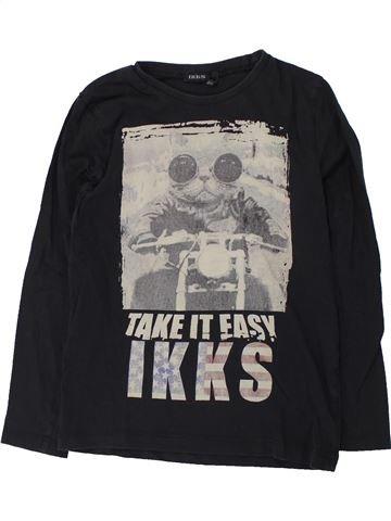 T-shirt manches longues garçon IKKS gris 8 ans hiver #1428200_1