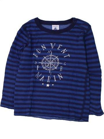T-shirt manches longues garçon PETIT BATEAU bleu 4 ans hiver #1428463_1