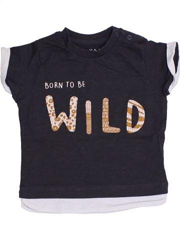 T-shirt manches courtes garçon NUTMEG noir 12 mois été #1428509_1