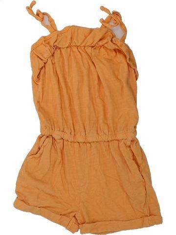 Combinaison courte fille MONOPRIX orange 3 ans été #1428592_1