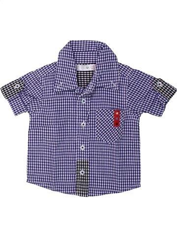Chemise manches courtes garçon M&CO bleu 3 mois été #1429280_1