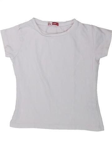 Camiseta de manga corta niña DPAM blanco 4 años verano #1429371_1