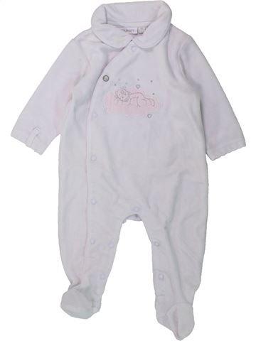 Pijama de 1 pieza niña NOUKIE'S blanco 3 meses invierno #1429461_1