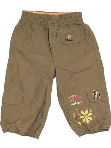 Pantalon fille SANS MARQUE marron 12 mois été #1429531_1