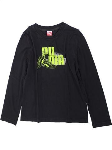 T-shirt manches longues garçon PUMA bleu foncé 12 ans hiver #1429815_1