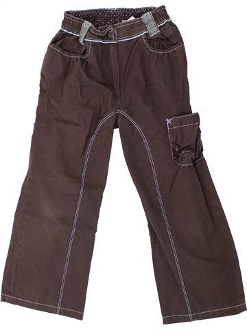 Pantalon fille TERRE DE MARINS marron 4 ans hiver #1429929_1